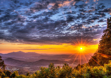 Devil's Backbone Sunrise by Terry Aldhizer