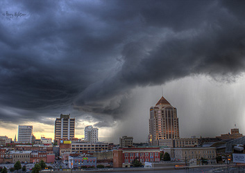 Downtown Deluge By Terry Aldhizer