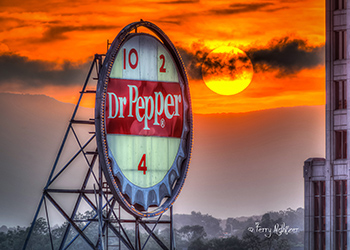 Dr. Pepper Sunset by Terry Aldhizer