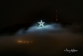 Fall Fog Roanoke Star By Terry Aldhizer