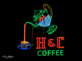 H & C Coffee Sign Roanoke By Terry Aldhizer
