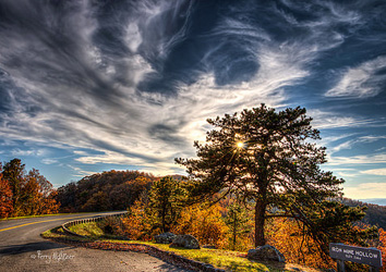 Iron Mine Hollow Autumn Sun By Terry Aldhizer