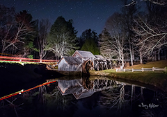 Mabry Mill Midnight Run Nightscape By Terry Aldhizer