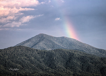 Rainbow Over Peaks Of Otter By Terry Aldhizer