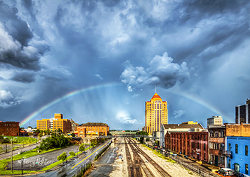 Summer Rainbow Roanoke City by Terry Aldhizer