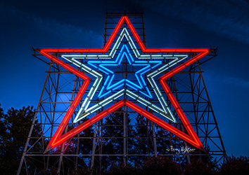 Red White Blue Twilight Roanoke Star by Terry Aldhizer