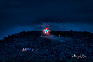 Roanoke Star Glows Red White Blue By Terry Aldhizer