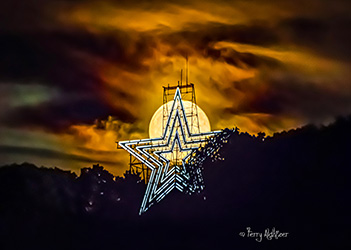 Roanoke Star On Strawberry Moon by Terry Aldhizer