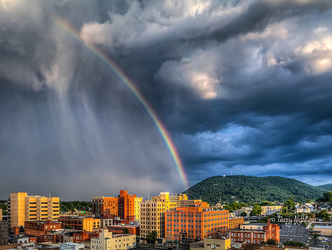 Summer Rainbow Roanoke Star By Terry Aldhizer
