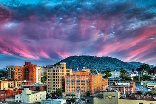 Sunset Twilight Crown Roanoke Star Mill Mountain By Terry Aldhizer